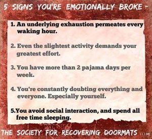 emotionally spent