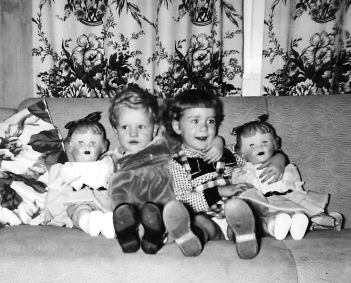 Pegg & Barb Christmas 1954