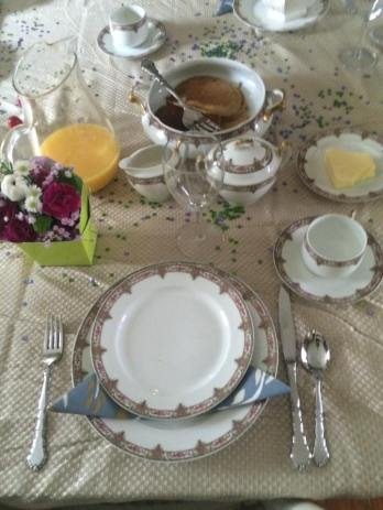 Place setting at Easter 2015