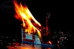 burning school house