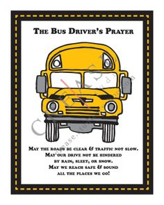 Bus Driver's Prayer