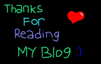thanks for reading my blog