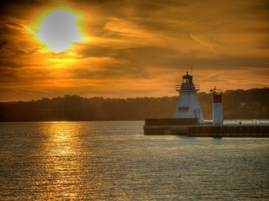 Lighthouse Sunset by Peter O'Hara